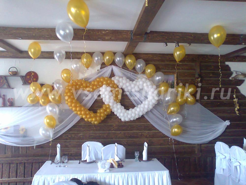 На свадьбу шарами фото